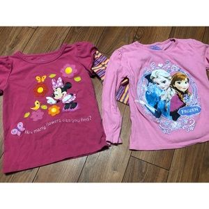 Minnie Mouse & frozen shirts